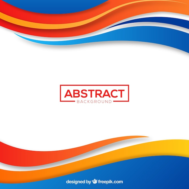 Abstract background with colorful lines Free Vector