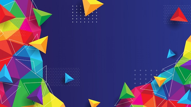 Abstract background with colorful and modern concept Premium Vector