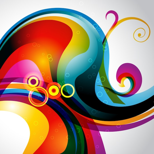 Abstract background with colorful modern shapes