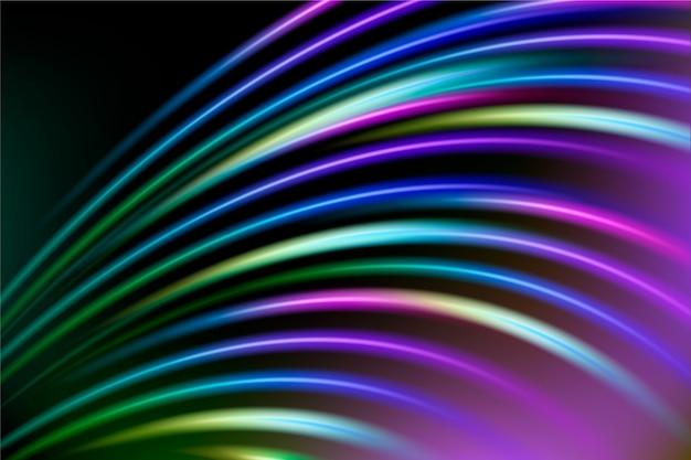 Абстрактный фон с красочными неоновыми огнями Бесплатные векторы