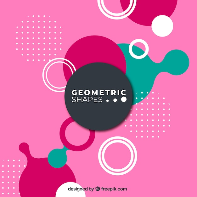 Abstract background with colorful rounded shapes Free Vector