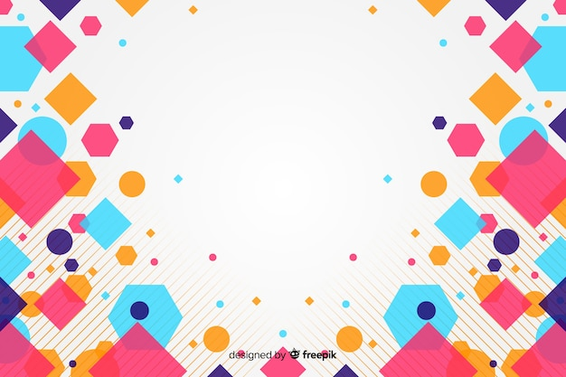 Abstract background with colorful squares Free Vector