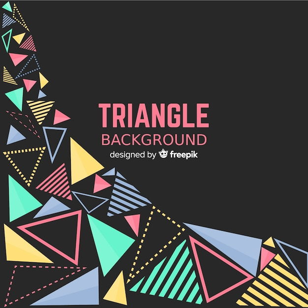 Abstract background with colorful triangles Free Vector