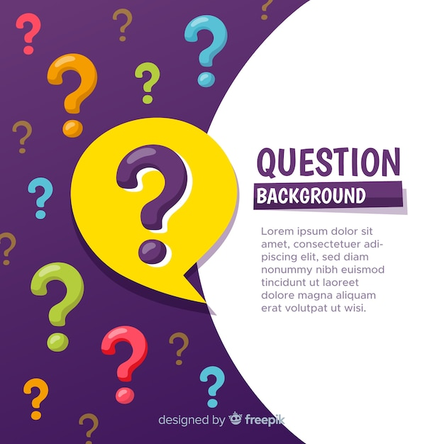 Abstract background with coloured question marks Free Vector
