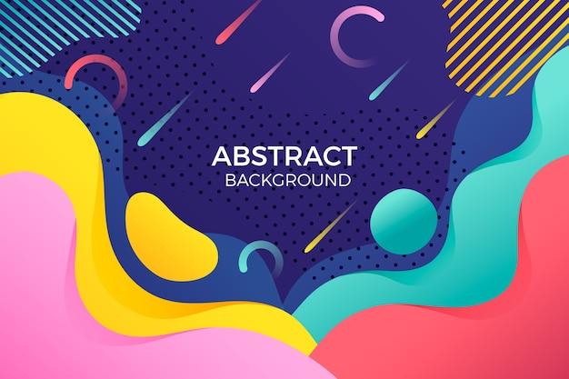 Abstract background with colourful rainy lines Free Vector