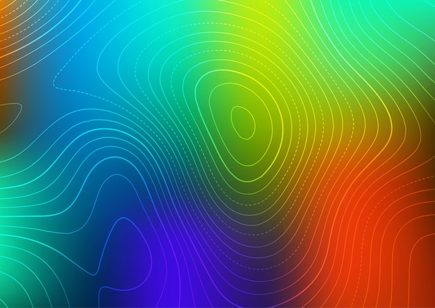 Abstract background with a contour map design Free Vector