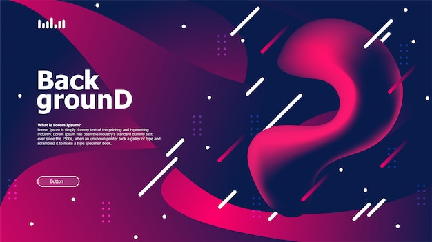 Abstract background with cosmic effect Premium Vector