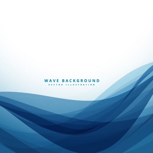 Abstract background with dark blue waves Vector | Free ...