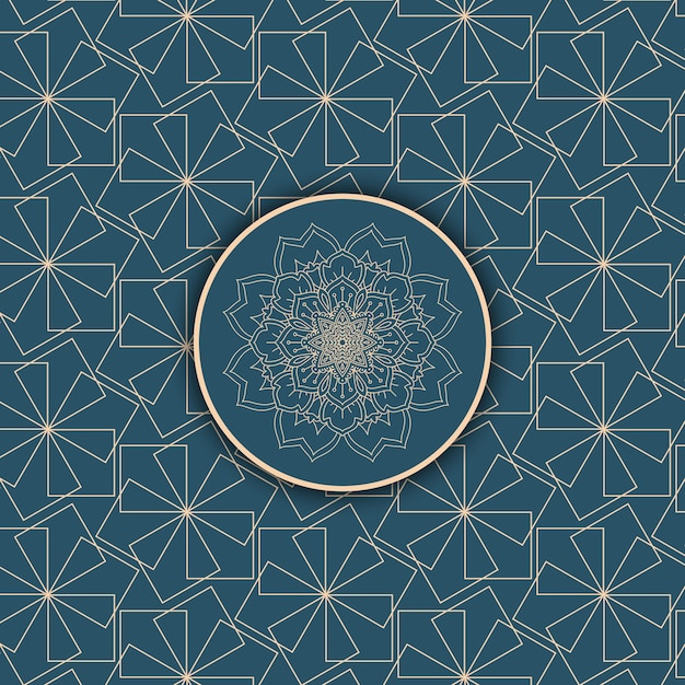 Abstract background with a decorative pattern design Free Vector