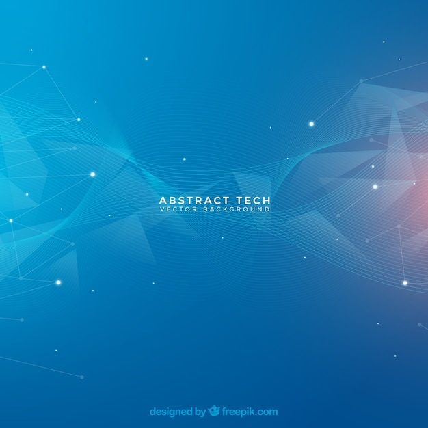 Abstract background with dots and lines Free Vector