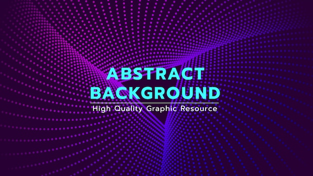 Abstract background with dots spin to triangle shape. Premium Vector