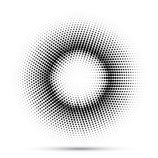 abstract background with dots that make up a circle vector