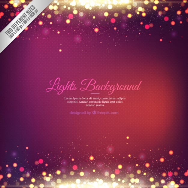 Abstract background with dotted lights Free Vector