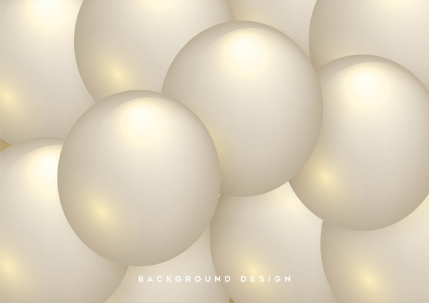 Abstract background with dynamic 3d spheres Premium Vector