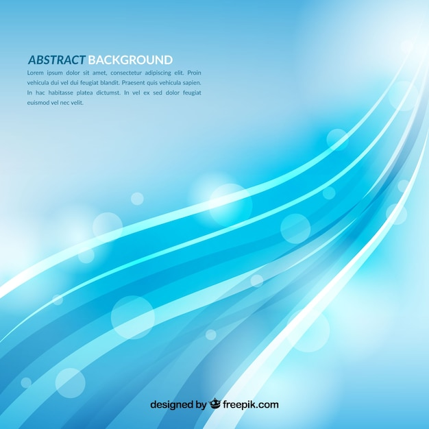 Abstract background with elegant waves Free Vector
