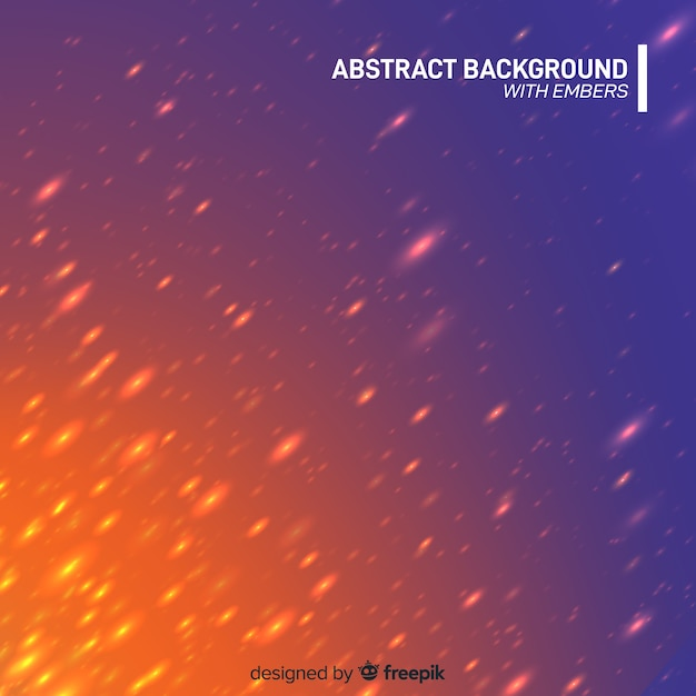 Abstract background with embers Free Vector