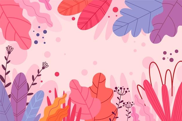 Sfondo astratto con fiori esotici spazio copia Vettore gratuito