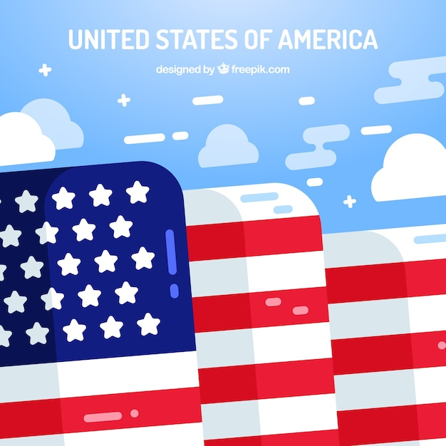 Abstract background with flag of united states