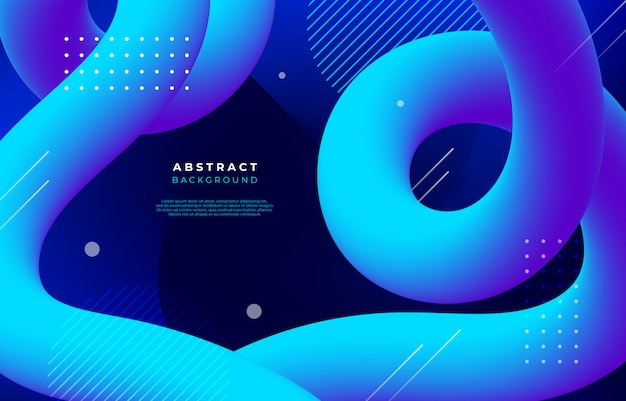 Abstract background with flow and linear shapes Free Vector