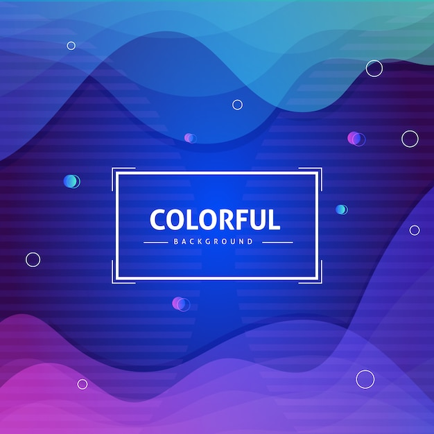 Abstract background with fluid shapes composition Premium Vector
