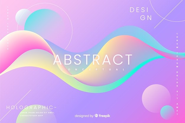 Abstract background with fluid shapes Free Vector