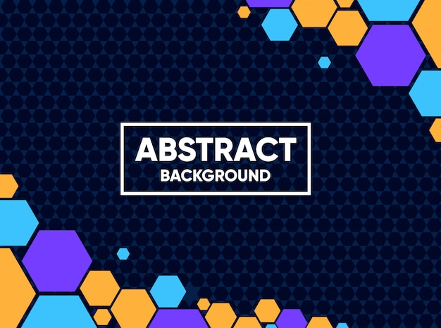 Abstract background with full color hexagonal shapes Premium Vector