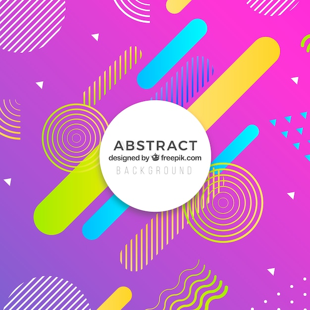 Abstract background with geometric design Free Vector