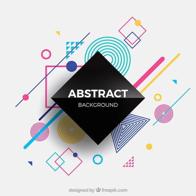 Abstract background with geometric shapes Vector | Free Download