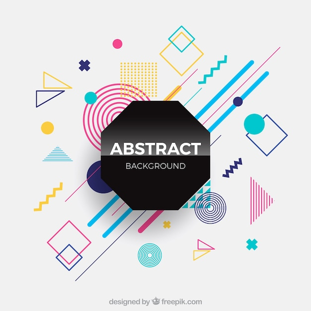 Abstract background with geometric shapes Free Vector