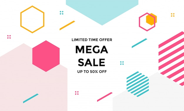 Abstract background with geometric shapes Premium Vector