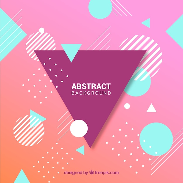 Abstract background with geometric style Free Vector