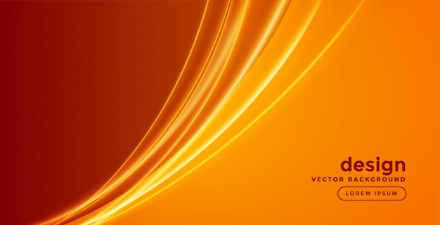Abstract background with glowing wave Free Vector