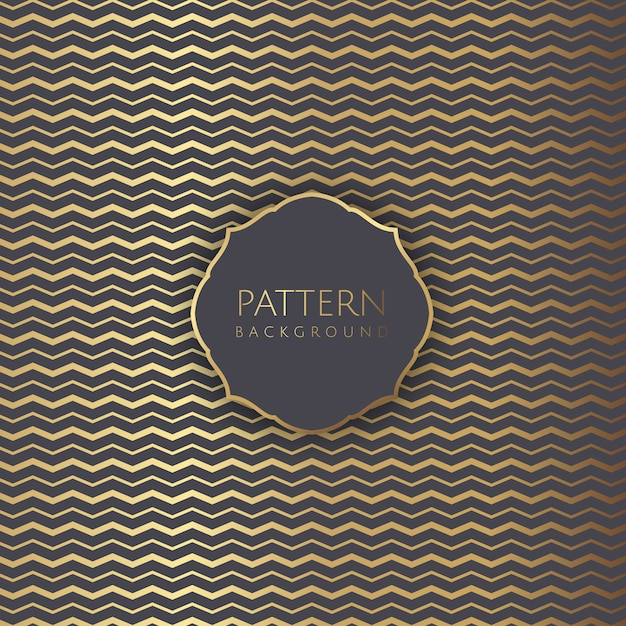 Abstract background with gold zig zag pattern Free Vector