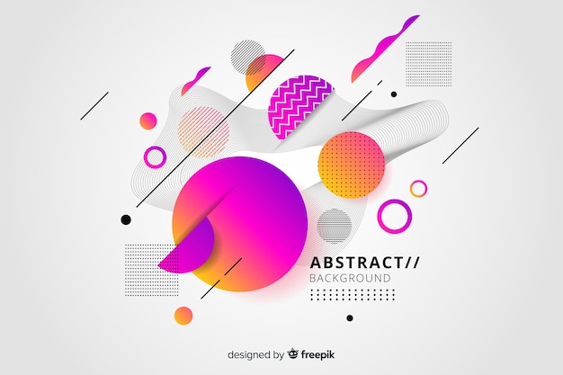 Abstract background with gradient effect Free Vector