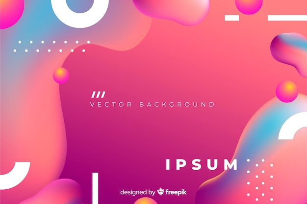 Abstract background with gradient fluid shapes Free Vector