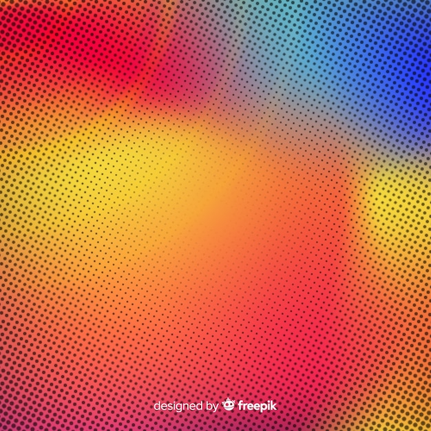 Abstract background with gradient halftone effect Free Vector