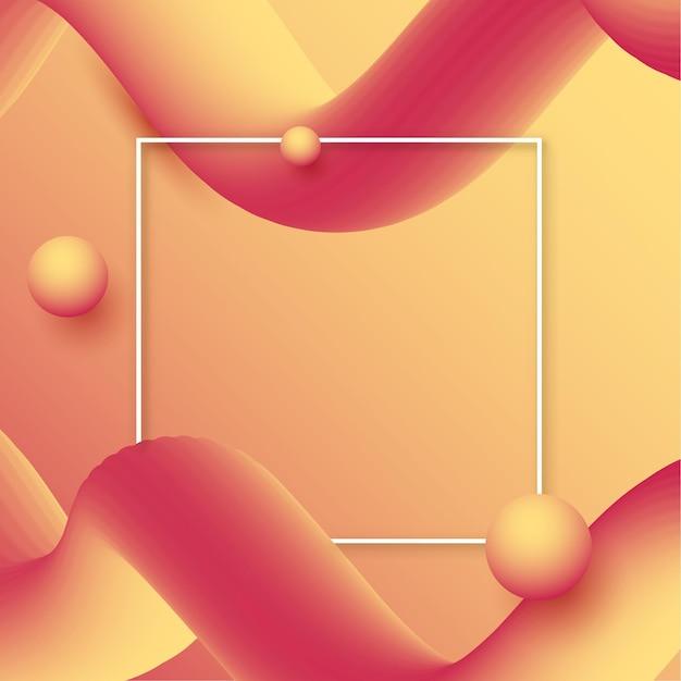 Абстрактный фон с градиентными волнами и белой каймой Бесплатные векторы