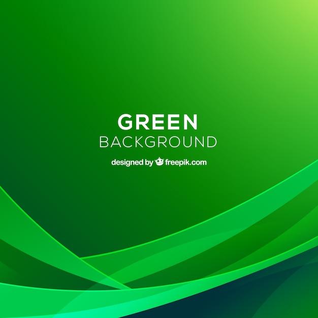 Абстрактный фон с зелеными фигурами Бесплатные векторы