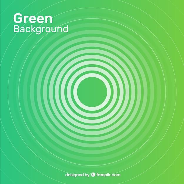 Абстрактный фон с зелеными фигурами Premium векторы