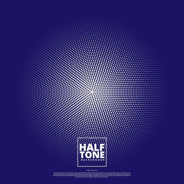 ハーフトーンデザインの抽象的な背景。 Premiumベクター