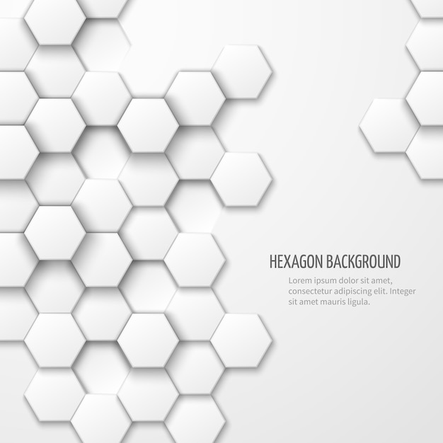 Abstract background with hexagon elements. business geometric background Free Vector