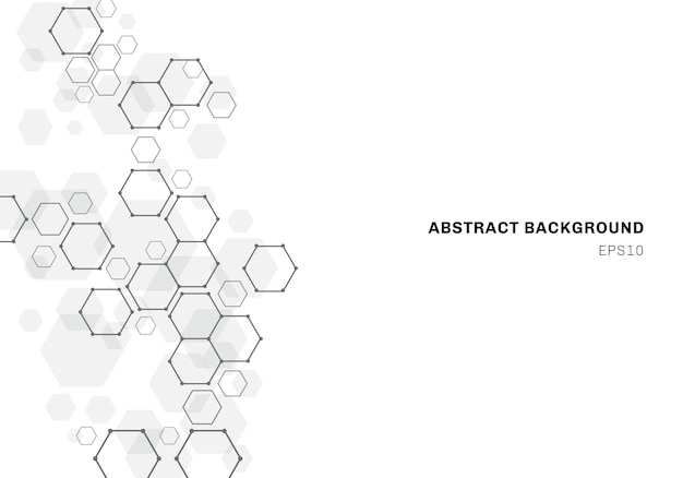 Abstract background with hexagonal molecule structure of neurons system Premium Vector