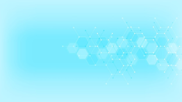 Abstract background with hexagons pattern. Premium Vector