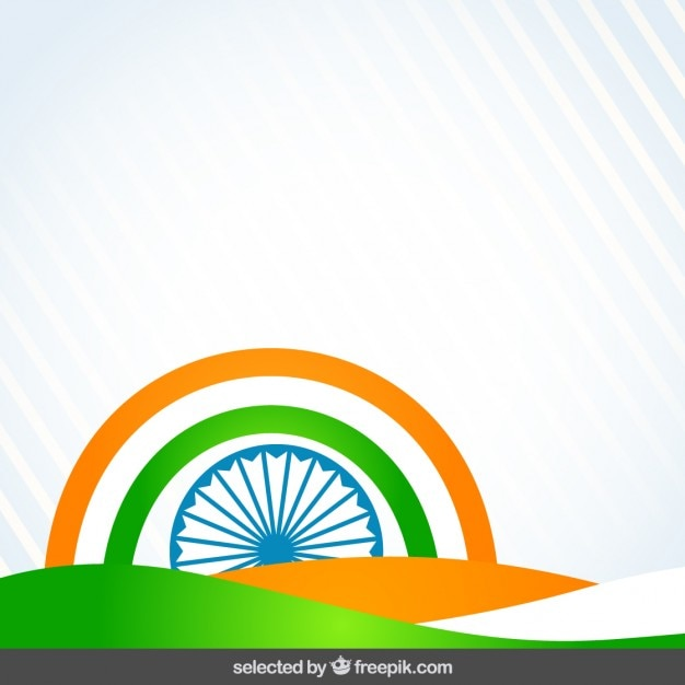 Abstract background with india flag colors
