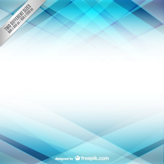 Abstract background with light blue shapes Free Vector