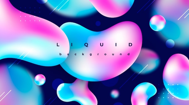 Abstract background with liquid elements Free Vector
