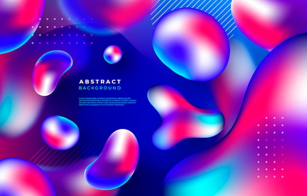 Abstract background with liquid shapes Free Vector
