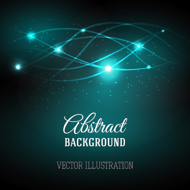Abstract background with magic light. Free Vector