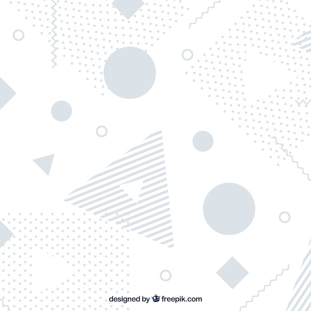 Abstract background with memphis shapes Free Vector