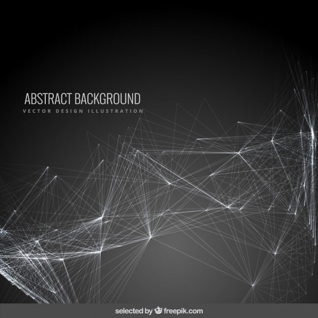 Abstract background with a mesh Free Vector